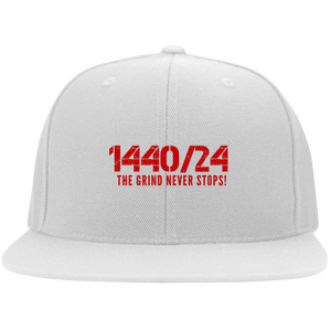 1440/24 TGNS (Red print) Flat Bill Twill Flexfit Cap