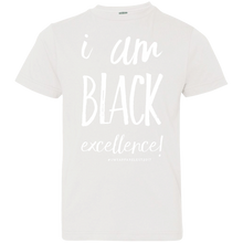 Load image into Gallery viewer, I AM BLACK EXCELLENCE Youth Jersey T-Shirt