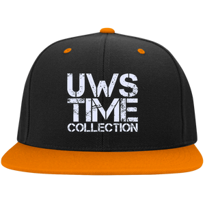 UWS TIME COLLECTION Flat Bill High-Profile Snapback Hat
