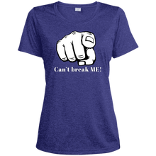 Load image into Gallery viewer, YOU CAN'T BREAK ME Ladies' Heather Dri-Fit Moisture-Wicking T-Shirt