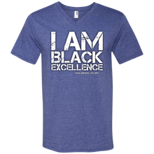 Load image into Gallery viewer, I AM BLACK EXCELLENCE Men's Printed V-Neck T-Shirt