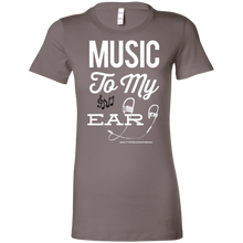 "Load image into Gallery viewer, ""Music To My Ear..."" Ladies' Favorite T-Shirt"