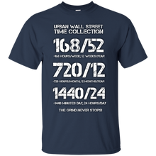Load image into Gallery viewer, Urban Wall Street Time Collection - White print T-Shirt