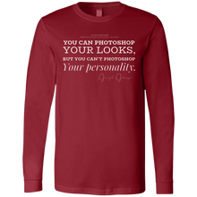 "Load image into Gallery viewer, ""You can Photoshop You Looks..."" Mens LS Jersey"