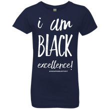 Load image into Gallery viewer, I AM BLACK EXCELLENCE Girls' Princess T-Shirt