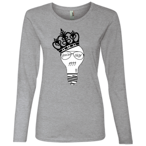 Genius Child (1999 w/crown) Ladies' Lightweight LS T-Shirt