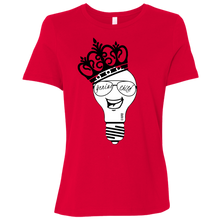 Load image into Gallery viewer, Genius Child (b/w grin)  Ladies' Relaxed Jersey Short-Sleeve T-Shirt