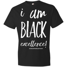 Load image into Gallery viewer, I AM BLACK EXCELLENCE Youth Lightweight T-Shirt 4.5 oz