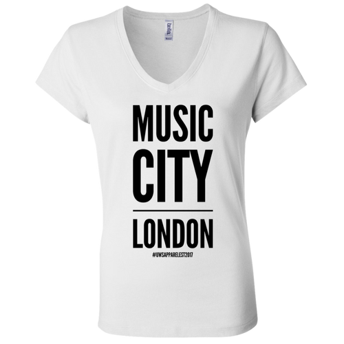 MUSIC CITY LONDON Ladies' Jersey V-Neck T-Shirt