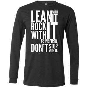 """Lean With It...""  Men's Jersey LS T-Shirt"