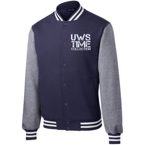 UWS TIME COLLECTION Men's Fleece Letterman Jacket