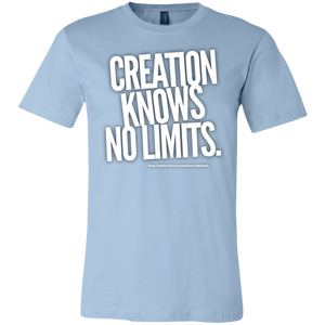 """Creation Knows No Limits"" Unisex Jersey Short-Sleeve T-Shirt"