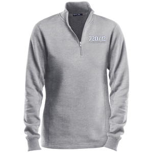 720/12 TGNS! (White print) Sport-Tek Ladies' 1/4 Zip Sweatshirt