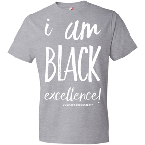 I AM BLACK EXCELLENCE Youth Lightweight T-Shirt 4.5 oz
