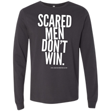 "Load image into Gallery viewer, ""Scared Men Don't Win"" Men's Jersey LS T-Shirt"