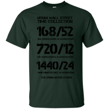 Load image into Gallery viewer, Urban Wall Street Time Collection - Black print T-Shirt