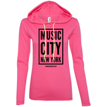 Load image into Gallery viewer, MUSIC CITY NEW YORK Ladies' LS T-Shirt Hoodie