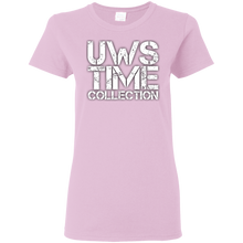 Load image into Gallery viewer, UWS Time Collection logo! White print Ladies T-Shirt
