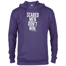 "Load image into Gallery viewer, ""Scared Men Don't Win""French Terry Hoodie"