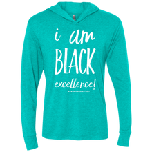Load image into Gallery viewer, I AM BLACK EXCELLENCEl Unisex Triblend LS Hooded T-Shirt