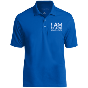 I AM BLACK EXCELLENCE UV Micro-Mesh Polo