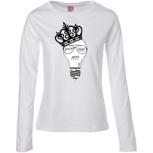 Load image into Gallery viewer, Genius Child (1999 w/crown) Ladies' LS Cotton T-Shirt