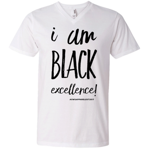 I AM BLACK EXCELLENCE Men's Printed V-Neck T-Shirt
