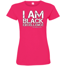 Load image into Gallery viewer, I AM BLACK EXCELLENCE Ladies' Fine Jersey T-Shirt
