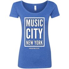 Load image into Gallery viewer, MUSIC CITY NEW YORK Ladies' Triblend Scoop