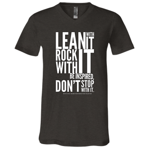 """Lean With It...""  Unisex Jersey SS V-Neck T-Shirt"