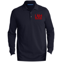 Load image into Gallery viewer, I Am Black Excellence Men's EZCotton™ LS Polo