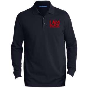 I Am Black Excellence Men's EZCotton™ LS Polo