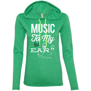 """Music To My Ear..."" Ladies' LS T-Shirt Hoodie"