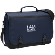 Load image into Gallery viewer, I AM BLACK EXCELLENCE Messenger Briefcase