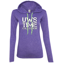 Load image into Gallery viewer, UWS TIME COLLECTION Logo Ladies' LS T-Shirt Hoodie