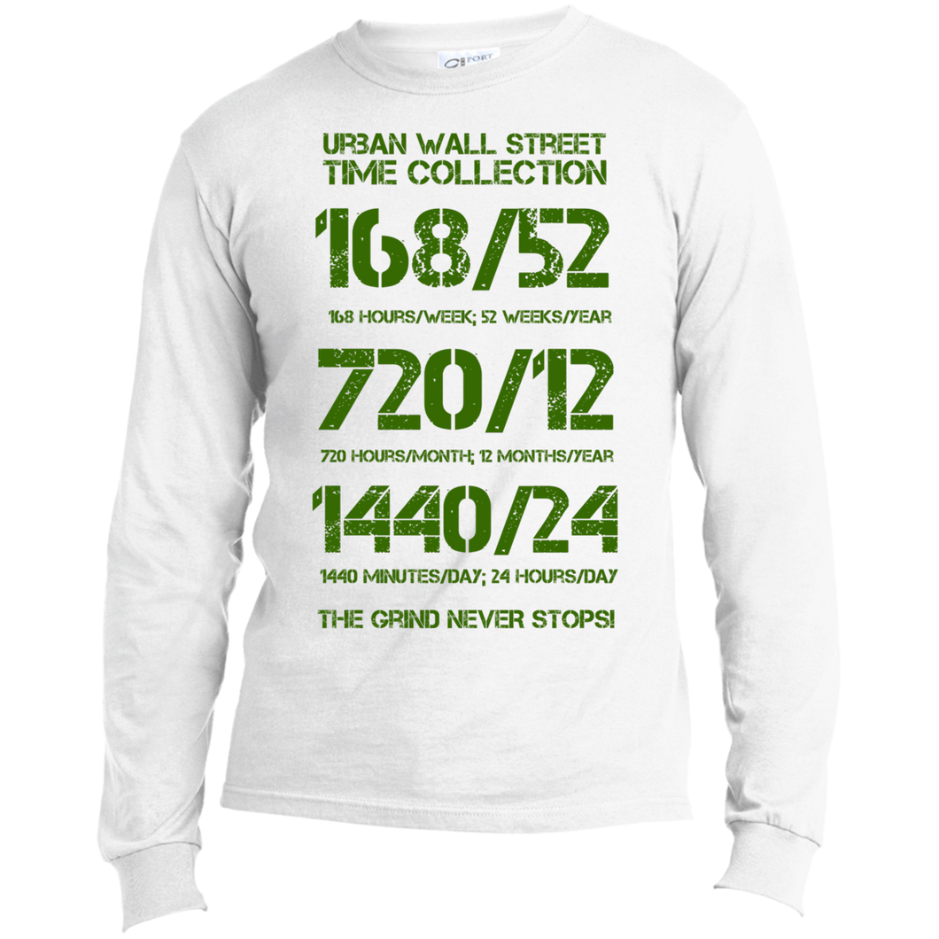 UWS Time Collection LS Made in the US T-Shirt (Green print)