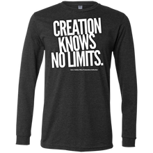 "Load image into Gallery viewer, ""Creation Knows No Limits"" Men's Jersey LS T-Shirt"