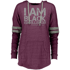 I AM BLACK EXCELLENCE Ladies Hooded Low Key Pullover