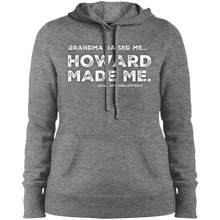 "Load image into Gallery viewer, ""GRANDMA RAISED ME"" Ladies' Pullover Hoodie"