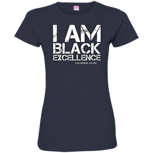 I AM BLACK EXCELLENCE Ladies' Fine Jersey T-Shirt