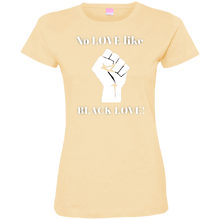 Load image into Gallery viewer, BLACK LOVE Ladies' Fine Jersey T-Shirt