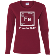 Load image into Gallery viewer, Fe-Proverbs Ladies' Cotton LS T-Shirt