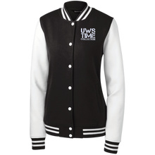 Load image into Gallery viewer, UWS TIME COLLECTION Ladies' Fleece Letterman Jacket