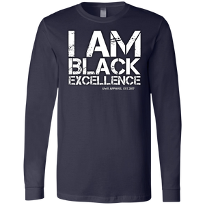 I AM BLACK EXCELLENCE Men's Jersey LS T-Shirt