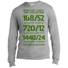 Load image into Gallery viewer, UWS Time Collection LS Made in the US T-Shirt (Green print)