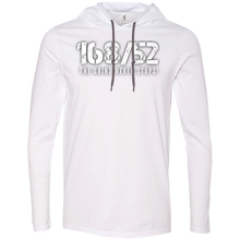 Load image into Gallery viewer, 168/52 THE GRIND NEVER STOPS! White Print T-Shirt Hoodie