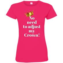 Load image into Gallery viewer, NO NEED TO ADJUST MY CROWN Ladies' Fine Jersey T-Shirt