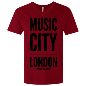 MUSIC CITY LONDON Men's Premium Fitted SS V-Neck