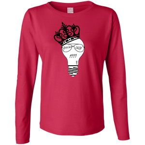 Genius Child (1999 w/crown) Ladies' LS Cotton T-Shirt