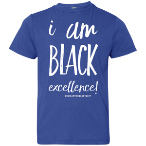 I AM BLACK EXCELLENCE Youth Jersey T-Shirt